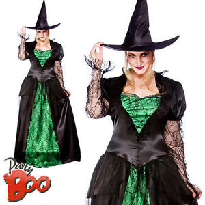 Emerald Witch UK 26-28 Ladies Fancy Dress Womens Halloween Plus Size Costume New