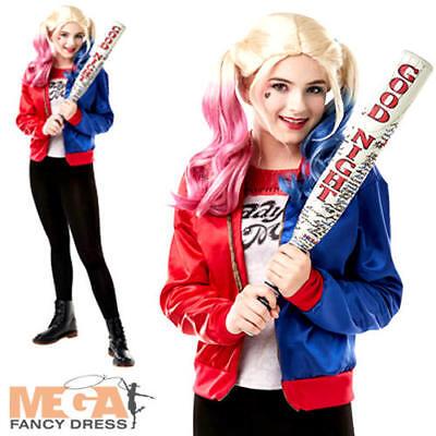 Harley Quinn Girls Fancy Dress Suicide Squad Halloween DC Girls Villain Costume - Villain Costumes For Girls