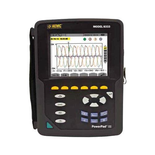 AEMC 8333 (2136.10) PowerPad III 3-Phase Power Quality Analyzer