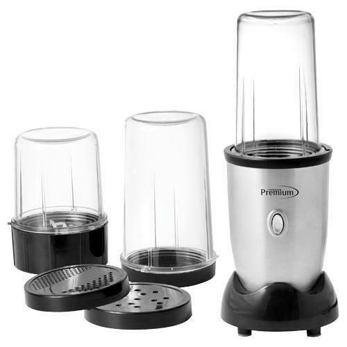 Premium Personal Blender Set Stainless Steel Blend Mix Grind Chop 3 Cups 300W