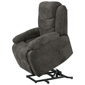 New Porter (3 in 1) Fabric Power Lift Recliner Chair - Grey