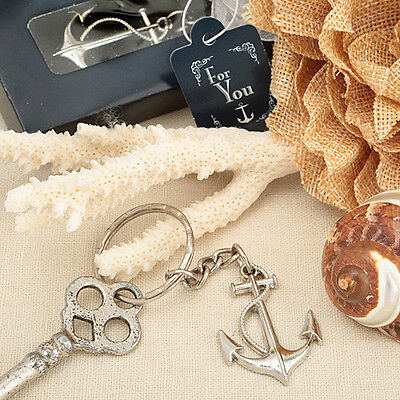 50 Anchor Key Chain Nautical Themed Party Event Favors Beach Cruise Wedding New