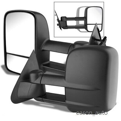 Left+Right 97-03 Ford F150 F-150 Extend Telescoping Manual Tow Side Mirrors