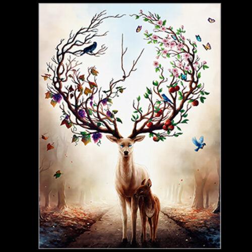Colorful Elk Antler Drawing Room Decorative Canvas Print Poster Art Home Bderoom