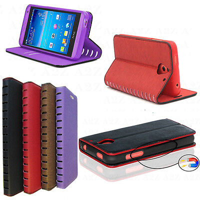New Stylish Design Leather Flip Wallet Stand Case Best Cover For Mobile