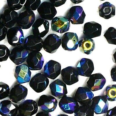 60 FACETTES Cristal de Bohême 4 MM NOIR JET