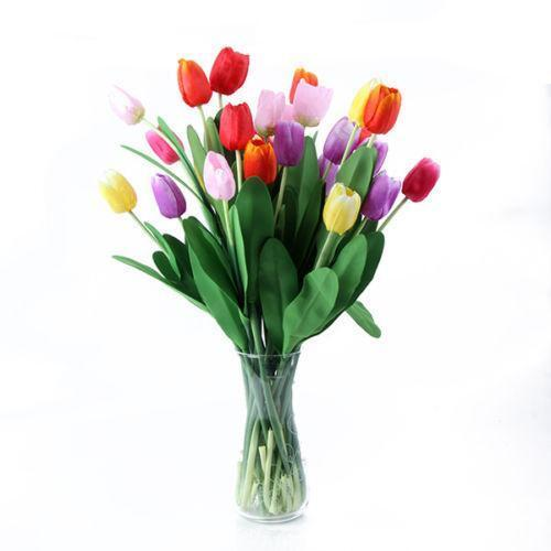 Artificial Tulips Floral Decor Ebay