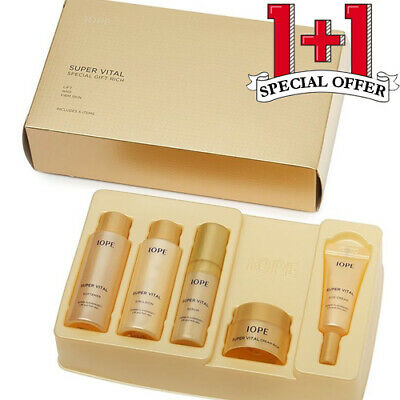 1+1 IOPE Super Vital Special Gift Rich Special Kit 5-items Korean Cosmetics NEW