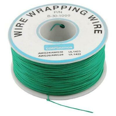 Pcb Solder Green Flexible 0.25mm Dia Copper Wire 30awg Wrapping Wrap 1000ft