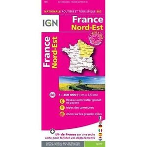 France North East 2015 ign, Institut Géographique National, New Book