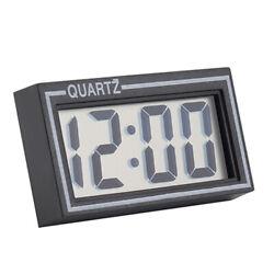 Desk Date Time Calendar Small Clock Digital LCD Screen Table Car Dashboard Black