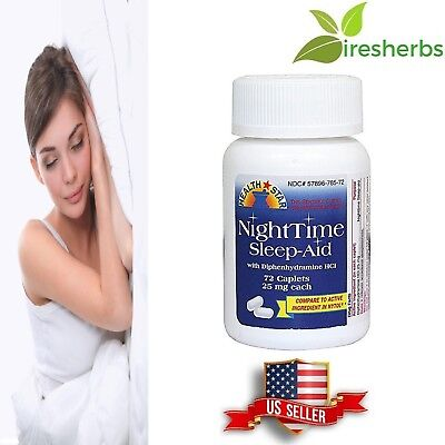 #1 STRENGTH BEST NIGHTTIME SLEEP AID PILLS *MAXIMUM PHARMACEUTICAL*  72