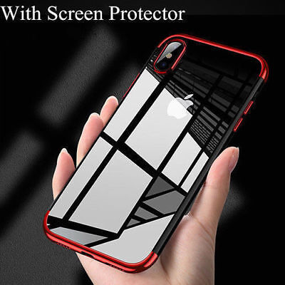 For iPhone X 6s 7 iPhone8 Plus Luxury Shockproof Slim Hard Protective Case Cover