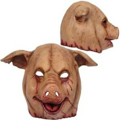 Slaughtered Pig Creepy Scary Mask Adult Halloween Costume - Creepy Pig Maske
