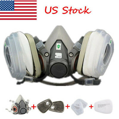 Suit 7 In 1 For Half Face Gas Mask 6200 Spray Painting Protection Respirator Us