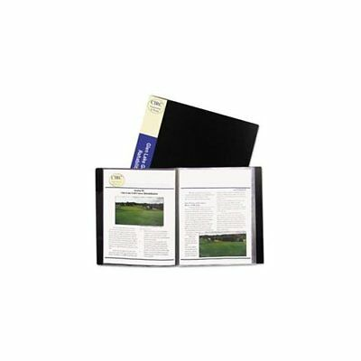 C-line 24-pocket Bound Sheet Protector Presentation Book Black 33240 - Letter