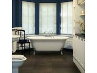 B&Q Cooke & Lewis Victoria Freestanding Bath with legs for Bathroom Shower
