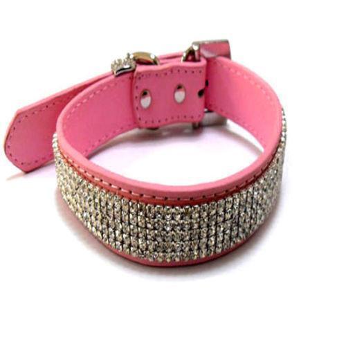 Large Pink Rhinestone Dog Collar Ebay