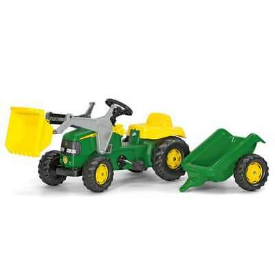 Rolly Toys John Deere Pedal Tractor with Loader & Detachable Trailer (Open Box) John Deere Loader Pedal Tractor