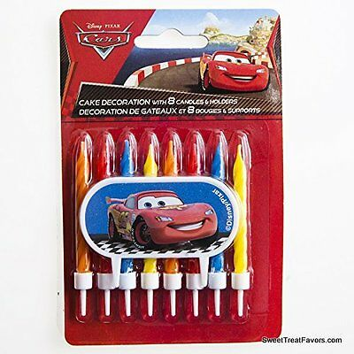 Cars Cupcake (Cars Pixar Cake Candle Despicable BIRTHDAY Party Supplies Cupcake Holder Favor)