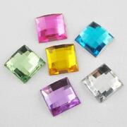 Square Rhinestone Beads