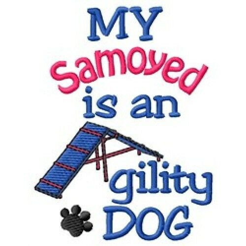 My Samoyed is An Agility Dog Fleece Jacket - DC2076LSize S - XXL