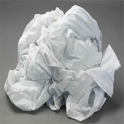 100 Cotton White Wiping Rags Cleaning Cloth 50 Lb Box - Best Quality Price