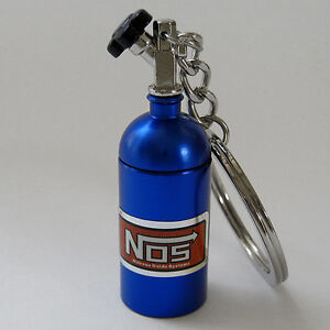 NOS BOTTLE KEYCHAIN PILL STASH BOX nitrous v8 XR6 EVO WRX GTR RX7 200SX VL MR2