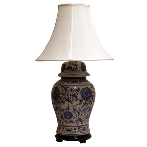 Blue Ginger Jar Lamp Ebay