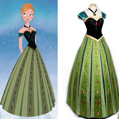 Frozen Snow Anna Fancy Dress Princess Queen Cosplay Costume Adult ](Snow Queen Costume Adults)
