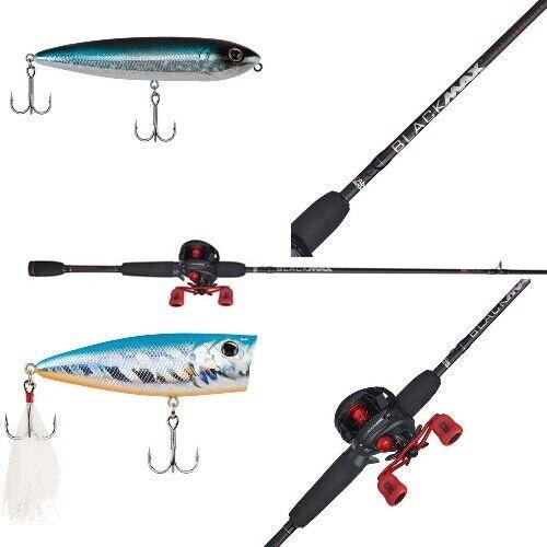 Abu Garcia Black Max Low Profile Baitcasting Reel and Fishing Rod Combo NEW