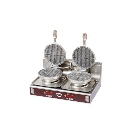 Wells WB-2E Cast Aluminum Double Round Waffle Baker