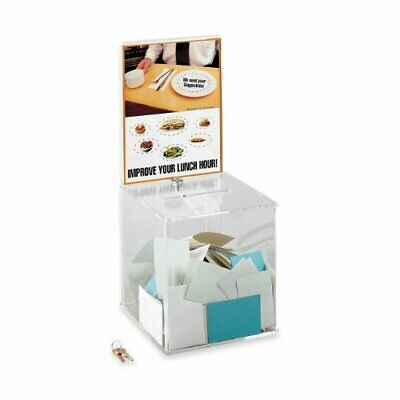 """Safco Collection Box - 21"""" Height X 9.3"""" Width X 9.3"""" Depth - Acrylic - Clear"""