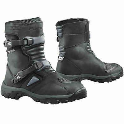 Forma Adventure Leather Motorcycle Boots Low Short Black Ride Magazine BEST