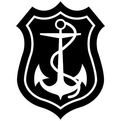 ANCHOR SEA BOAT SHIP HOOKS CAR NAVY ARMY WINDOW VINYL DECAL STICKER (AN-1) (Best Boat Hooks)