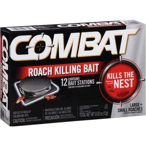 Combat Small Large Roach Killing Bait 12 Stations 3 Mo Supply - Damaged Package