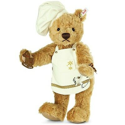 Steiff 021244 Teddybär Weinachtsbäcker  inkl. Zertifikat 444 Mohair Neu & Ovp