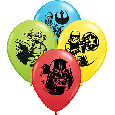 STAR WARS ASSORTED LATEX BALLOONS (6) ~ Birthday Party Supplies Jedi Darth Yoda](Yoda Party Supplies)