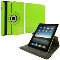 NEW GREEN 360 ROTATING PU LEATHER CASE COVER STAND FOR IPAD AIR
