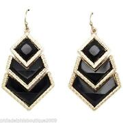 Art Deco Pierced Earrings