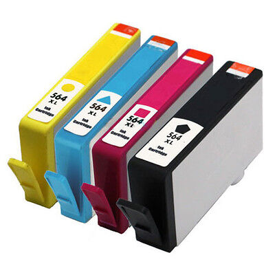 4PK 564XL Ink Cartridge for HP PRINTER Photosmart 5510/5514/5522/6510