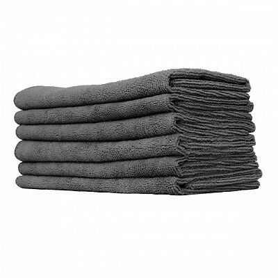 10 PACK NEW MICROFIBER TOWELS CLEANING PLUSH 15x15 300 GSM LINT FREE BLACK