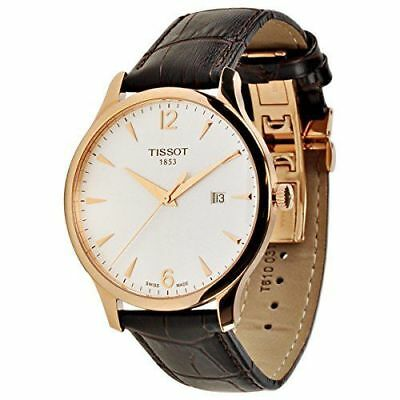 Tissot Men's T0636103603700 'T-Classic Tradition' Brown Leather Watch