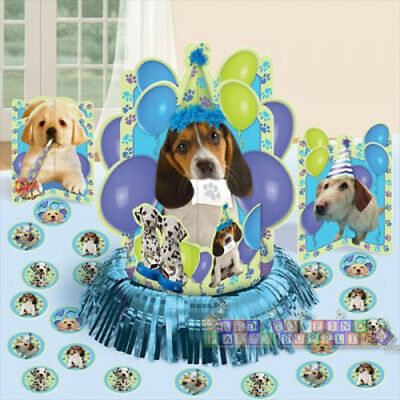 PUPPY PARTY TABLE DECORATING KIT (23pc) ~ Birthday Supplies Decorations Paper - Puppy Birthday Decorations