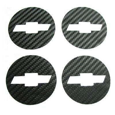 NEW 4X Carbon Fiber Wheel Center Hub Caps Sticker Chevrolet Chevy Cruze 2011