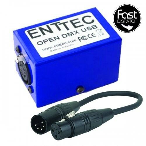 Enttec - Open DMX USB Dongle with 5pin to 3pin adapter