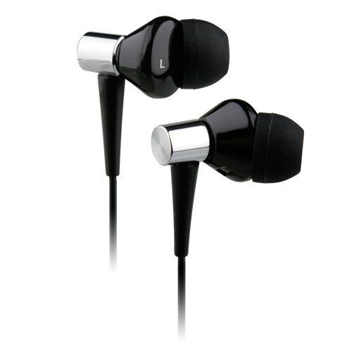 NoiseHush NX50 Black In-Ear 3.5mm Stereo Headsets w/  Mic & Carrying Pouch - NEW