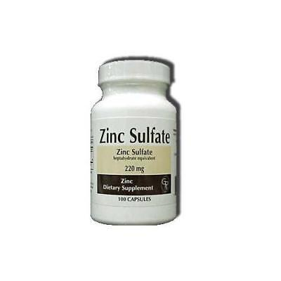 3 Pack Rising Pharm Zinc Sulfate Capsules 220mg 100 Count Each for sale  Shipping to India