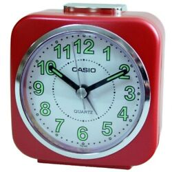 Casio Alarm clock  TQ-143-4D Table Top Travel With Alarm Clock Red