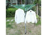 Lightweight rotary clothes line airer